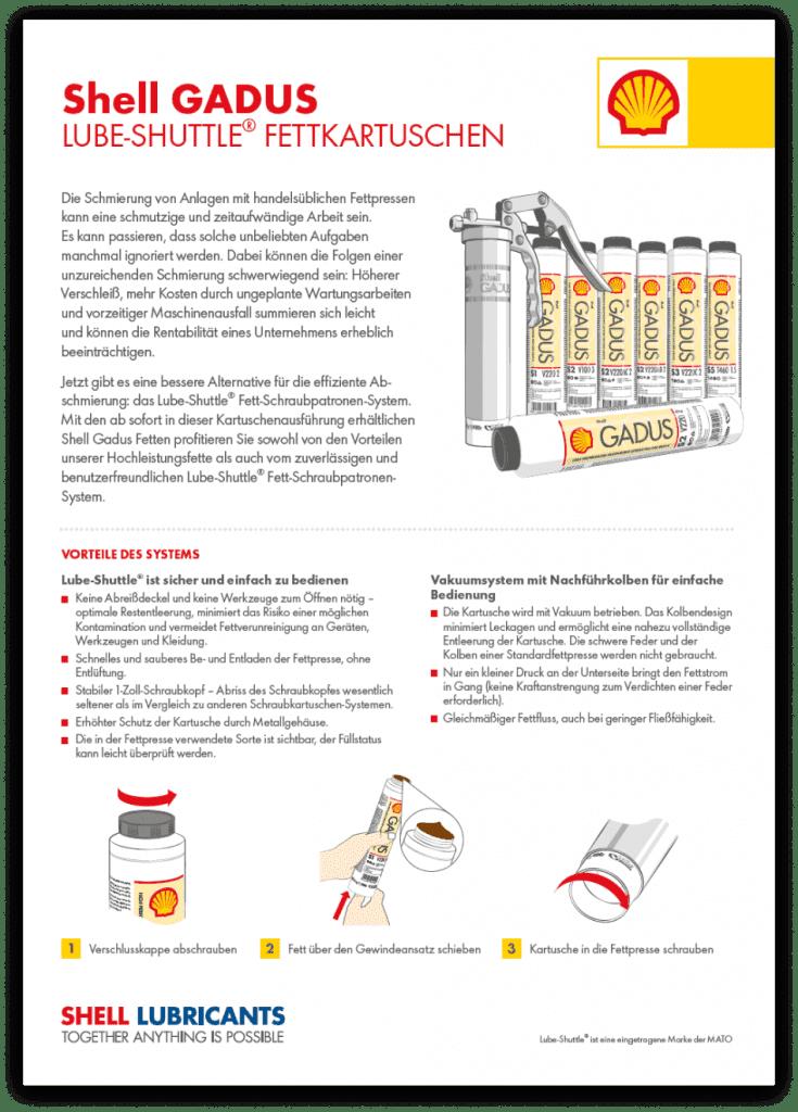 , Whitepapers, Shell Gadus Lube-Shuttle® Schraubkartuschen: Schmieren ist künftig effizient und sauber