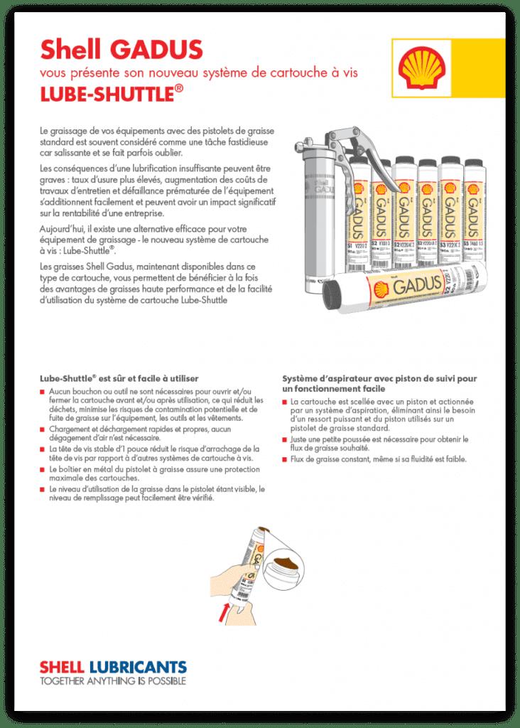 , Whitepapers, Cartouches à visser Shell Gadus Lube-Shuttle® : l'innovation au service d'un graissage propre et efficace