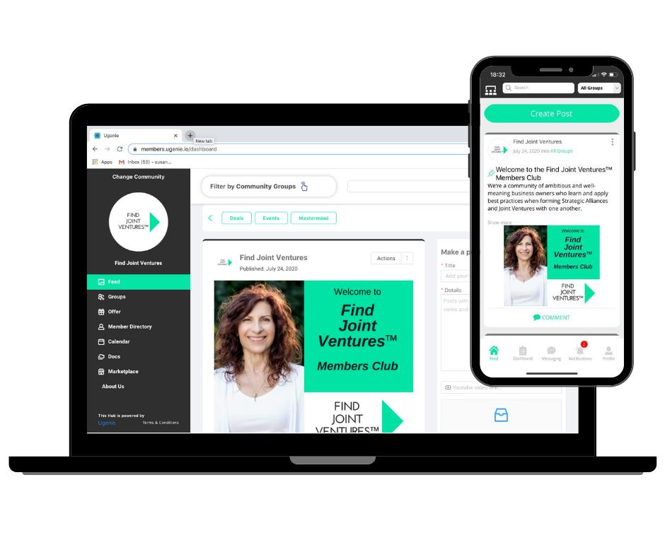 Susan Kabani found of Ugenie- screenshot of the platform