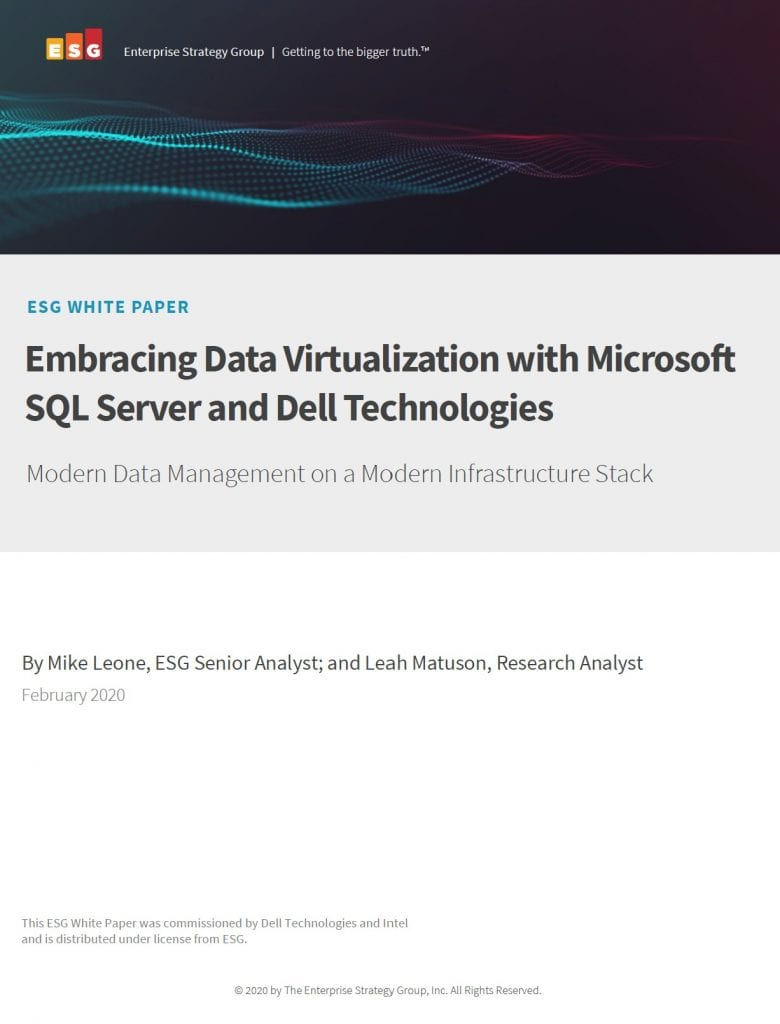 Data virtualisation, , Embracing Data Virtualization with Microsoft SQL Server and Dell Technologies