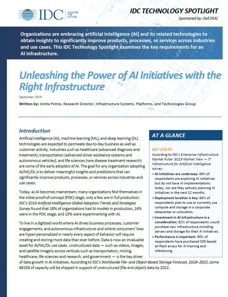 Ai Infrastructure, , Unleashing the Power of AI Initiatives with the Right Infrastructure