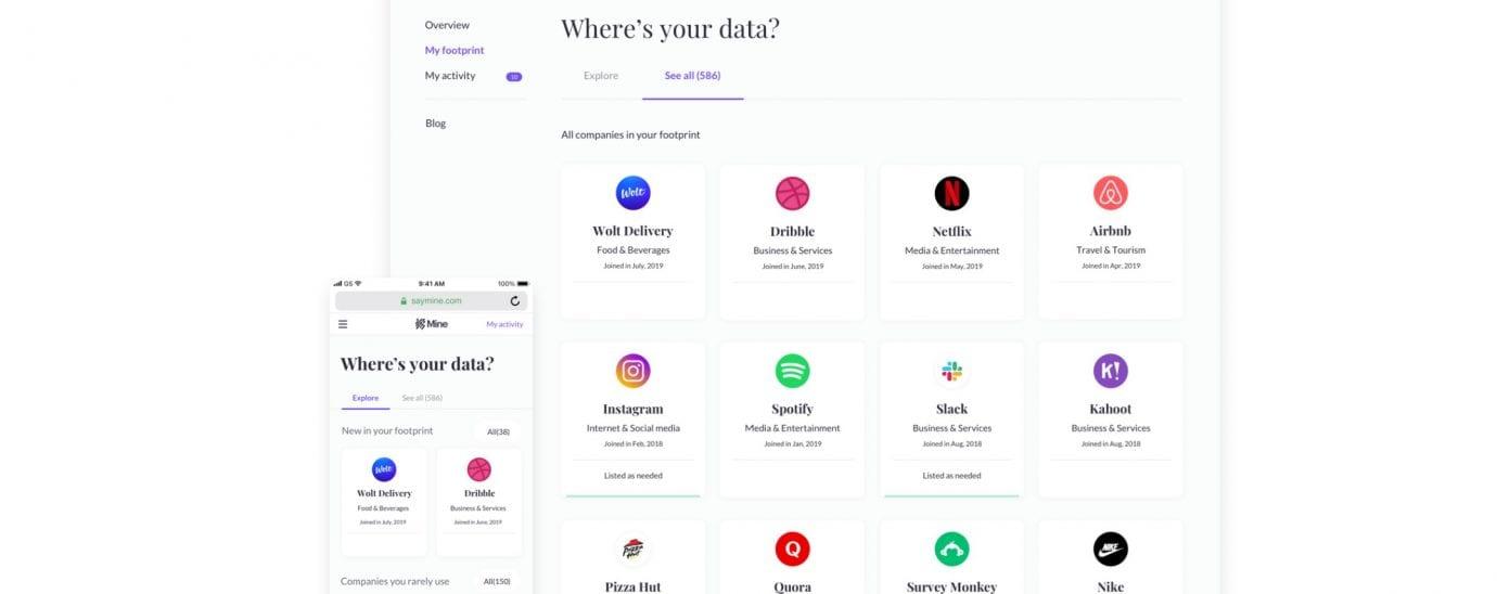 Screenshot of Mine App - raise 9mil in funding