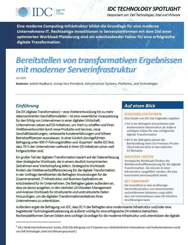 , , Bereitstellen von transformativen Ergebnissen mit moderner Serverinfrastruktur