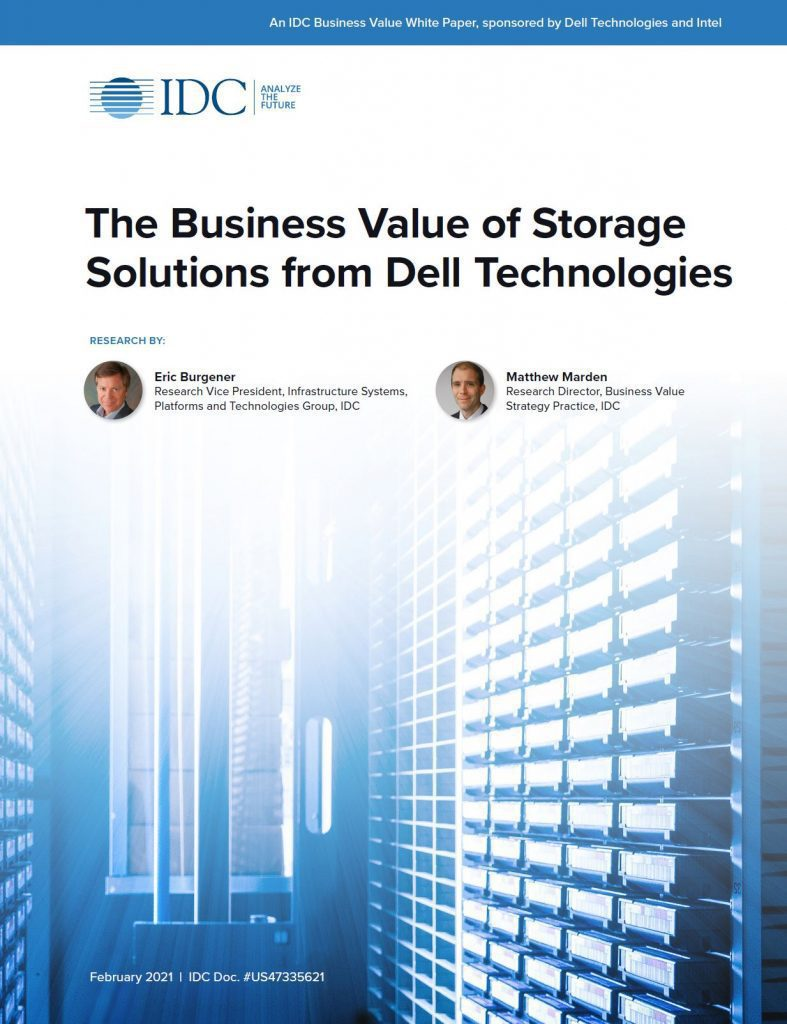 Dell, , The Business Value of Storage Solutions from Dell Technologies