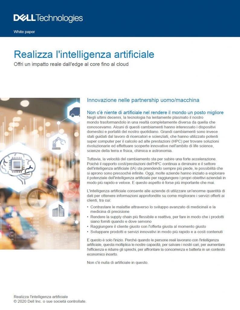 Dell, , Realizza l'intelligenza artificiale