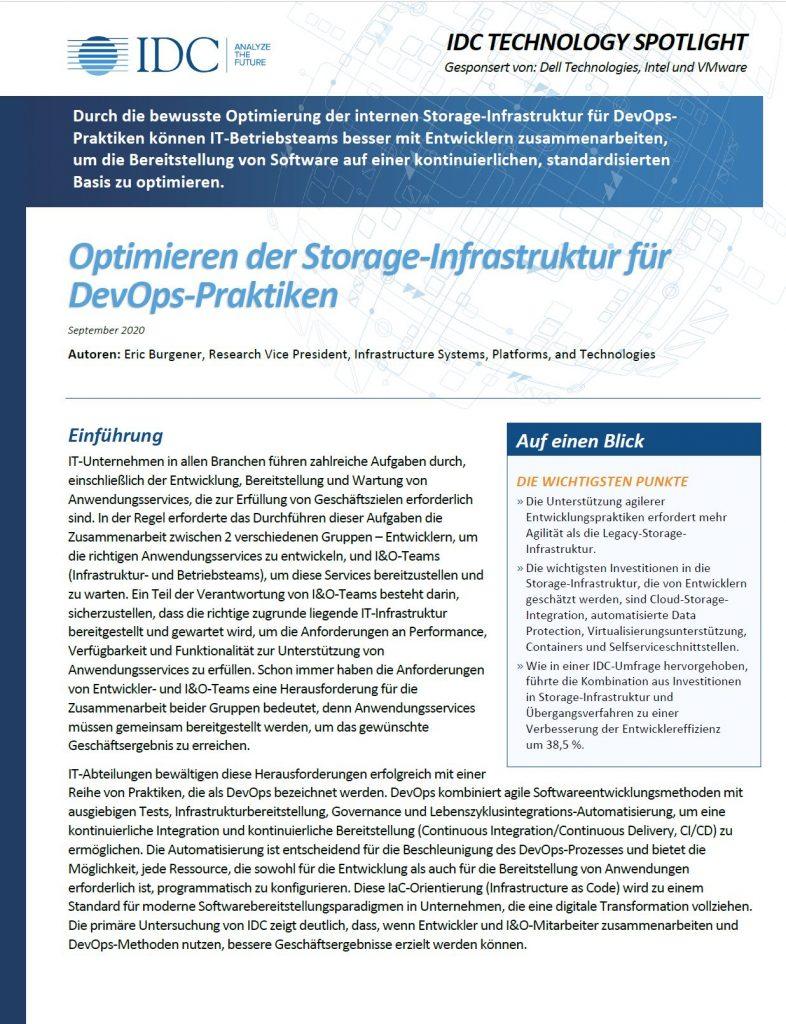 Dell, , Optimieren der Storage-Infrastruktur für DevOps-Praktiken