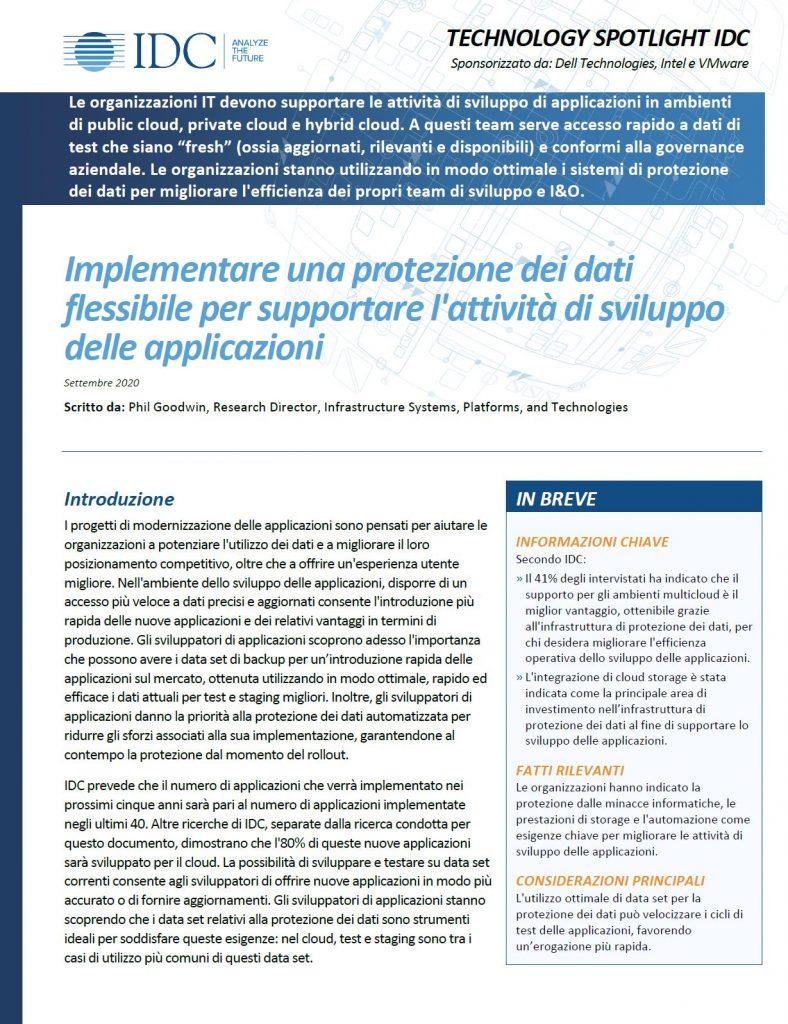 Dell, , Implementare una protezione dei dati flessibile per supportare l'attività di sviluppo delle applicazioni