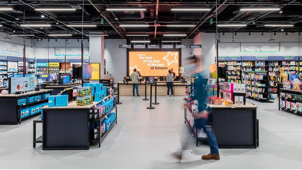 Amazon has opened its first non-food store in the UK, selling its most popular products.